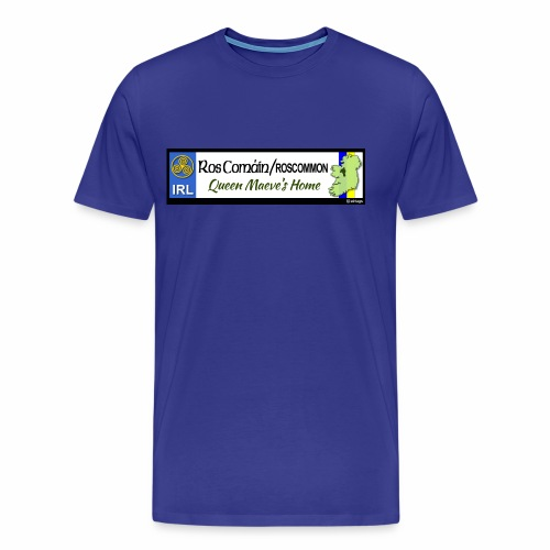 ROSCOMMON, IRELAND: licence plate tag style decal - Men's Premium T-Shirt