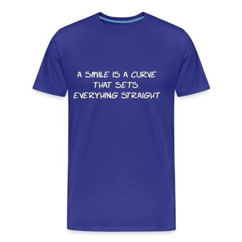 A Smile is a curve - Mannen Premium T-shirt