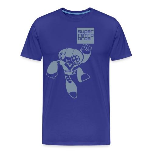 Leaping Retro Bot - Premium-T-shirt herr