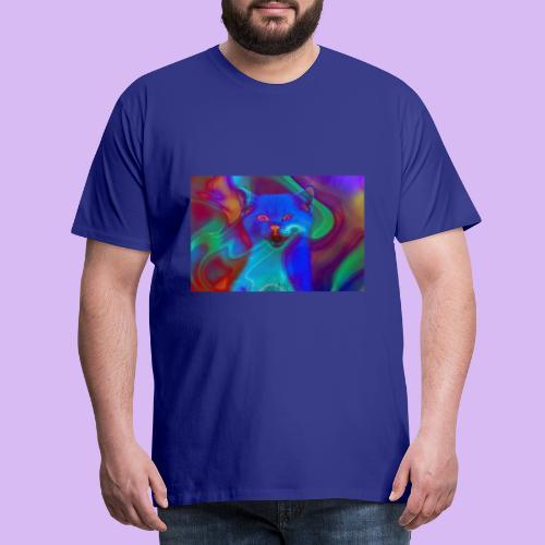 Gattino con effetti neon surreali - Maglietta Premium da uomo