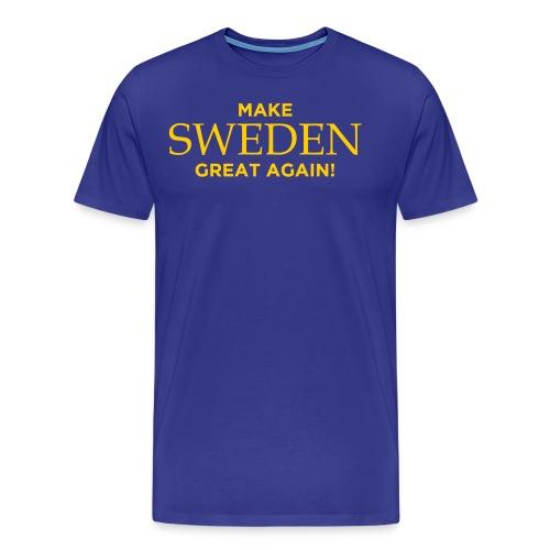 Make Sweden Great Again! - Premium-T-shirt herr