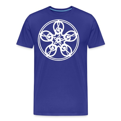 CELTIC CLEF MANDALA (white) - Men's Premium T-Shirt