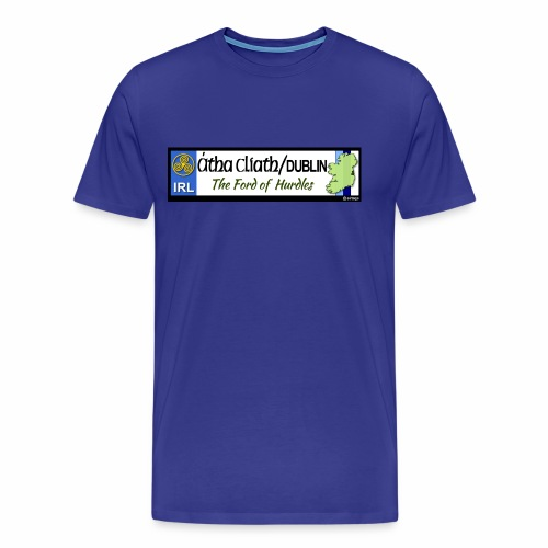 CO. DUBLIN, IRELAND: licence plate tag style decal - Men's Premium T-Shirt
