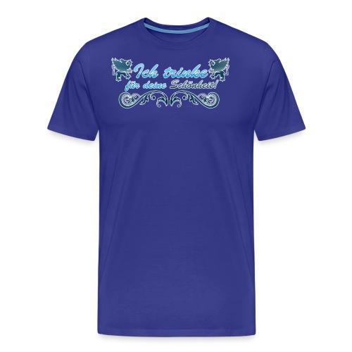 Ich trinke für deine Schöheit - Männer Premium T-Shirt