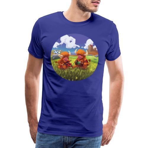 Highland cows from Scotland - T-shirt Premium Homme