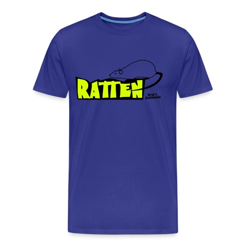Ratte mit Text - Männer Premium T-Shirt