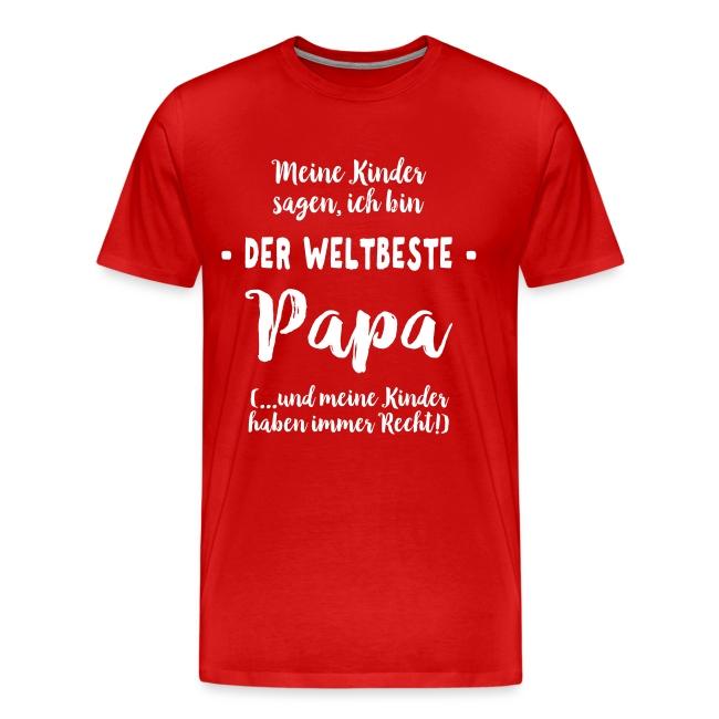 Weltbester Papa Vater Geschenk Spruch von Kindern