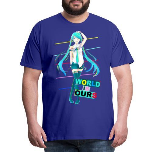 Miku World Is Ours - Camiseta premium hombre
