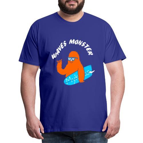 Waves Monster - T-shirt Premium Homme