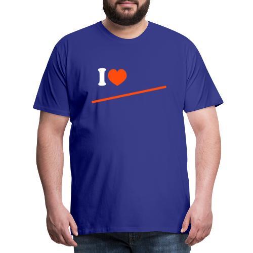 ilove niet - Mannen Premium T-shirt