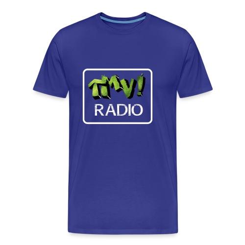 TMV RADIO logo bianco - Maglietta Premium da uomo