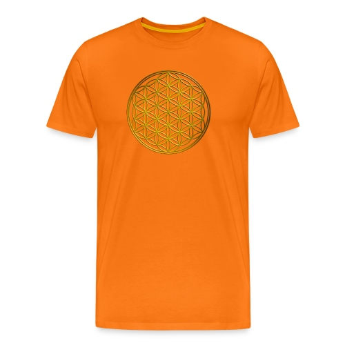 Flower of life GOLD - Mannen Premium T-shirt