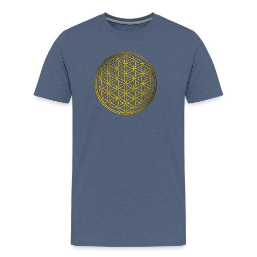 Flower of life GOLD - Mannen Premium T-shirt