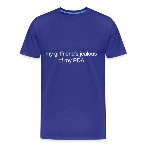 girlfriend jealous pda v1 - Men's Premium T-Shirt