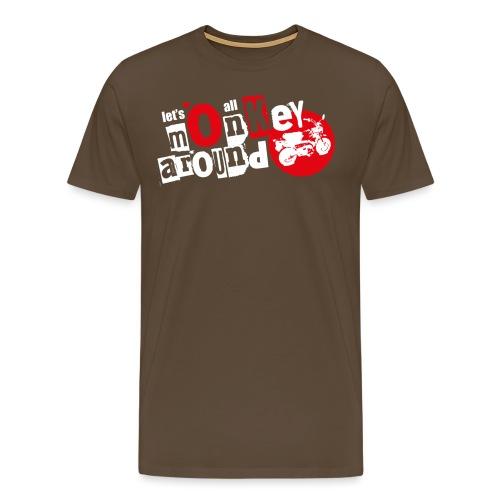 Monkey Around T-Shirt - Men's Premium T-Shirt