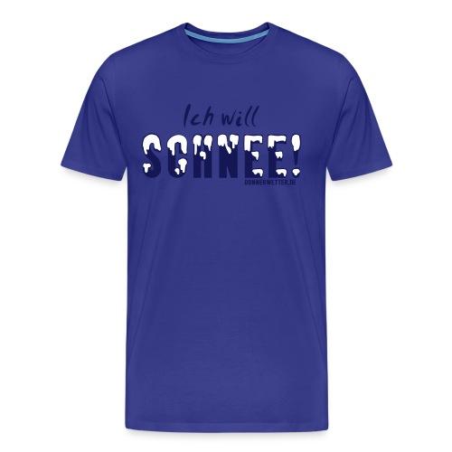 Ich will Schnee - Männer Premium T-Shirt
