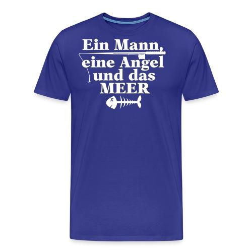 ein mann eine angel und das meer - Männer Premium T-Shirt