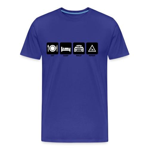 eatsleeprallyrepeat - Männer Premium T-Shirt