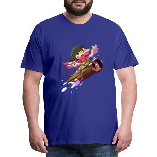 Snowboarder troll - Men's Premium T-Shirt
