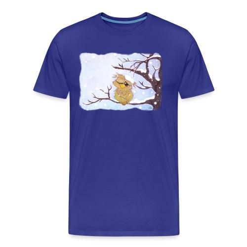 Kauz im Schnee - Männer Premium T-Shirt