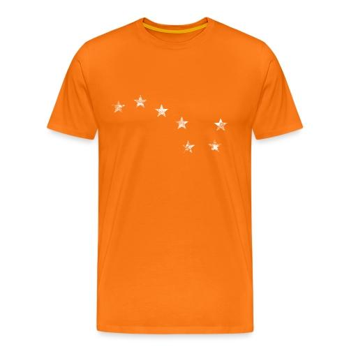 starry plough white grunge - Men's Premium T-Shirt