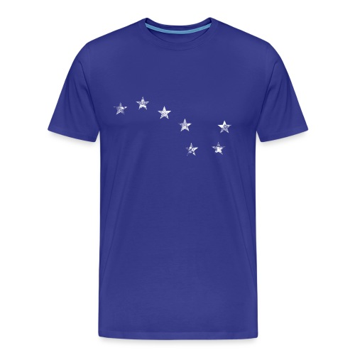 starry plough white grunge - Men's Premium T-Shirt