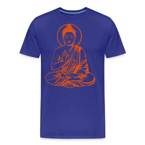 Buddha-Vektor-Outline - Männer Premium T-Shirt