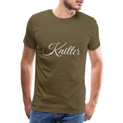 Knitter, light gray - Men's Premium T-Shirt