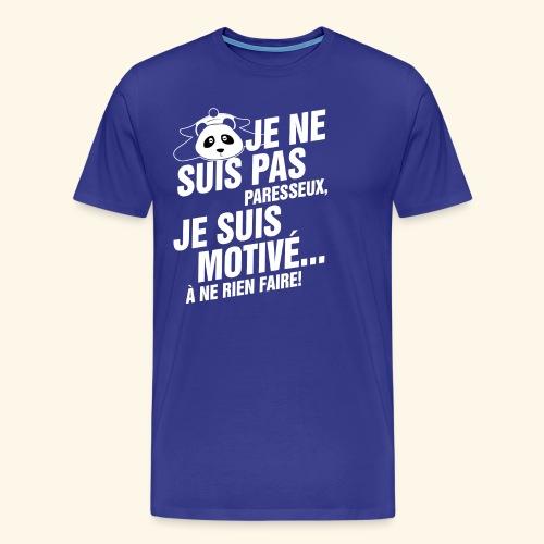 not lazy 2 - T-shirt Premium Homme