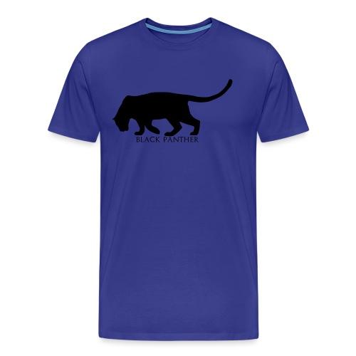 Panther-Text-Under - Premium T-skjorte for menn