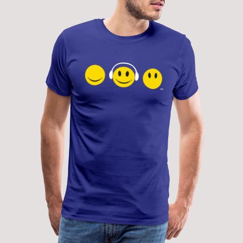 yellow shs wt - Men's Premium T-Shirt
