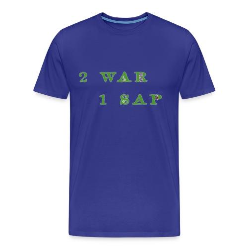 2 WAR 1 SAP - Maglietta Premium da uomo