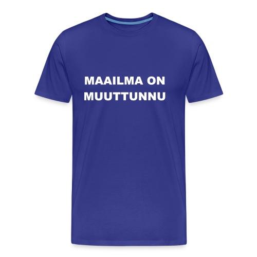 maailma - Miesten premium t-paita