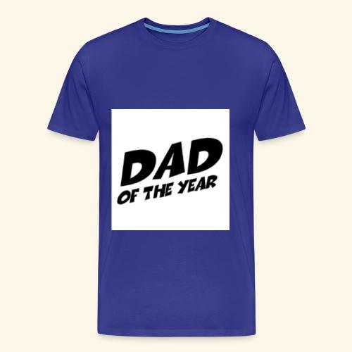Årets pappa - Premium T-skjorte for menn
