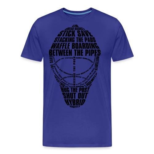 Ice Hockey Goalie Mask (black) - Men's Premium T-Shirt