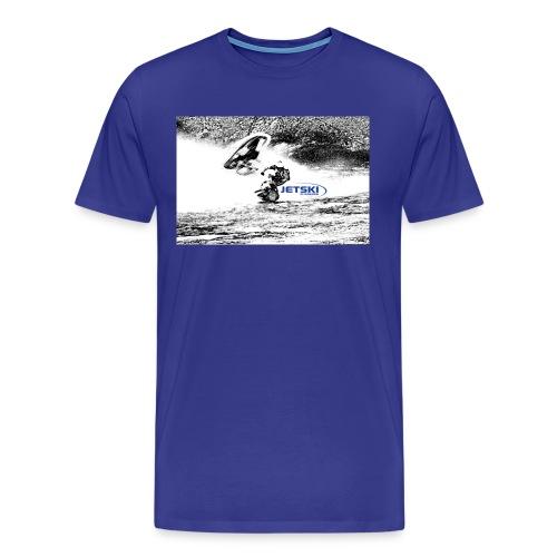 hlebild 2 jetski blå logg - Premium-T-shirt herr