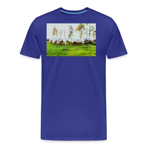Pixel Schafe - Männer Premium T-Shirt