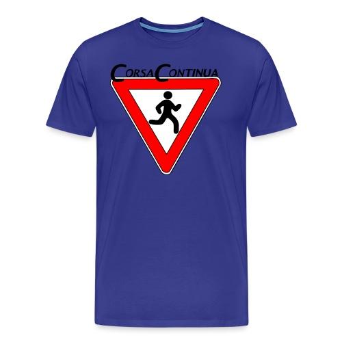 Logo Corsa Continua - Maglietta Premium da uomo