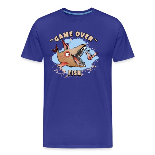 10-37 GAME OVER FISH - Peli on pelattu kala - Miesten premium t-paita