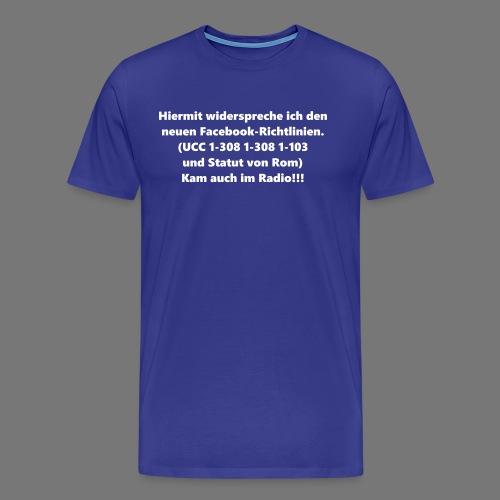 Facebook-AGB - Männer - Männer Premium T-Shirt