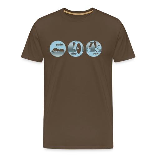 swim bike run Triathlon Sport - Männer Premium T-Shirt