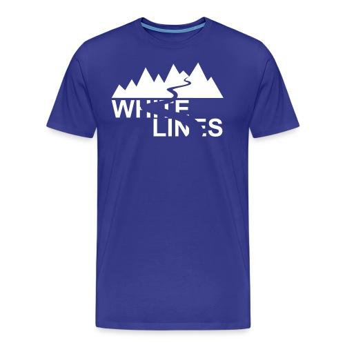 White Lines v3 - Männer Premium T-Shirt