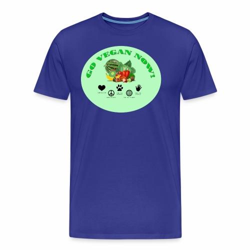 GO VEGAN NOW! - Männer Premium T-Shirt