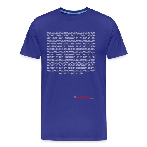 Nutteloos binair - Mannen Premium T-shirt