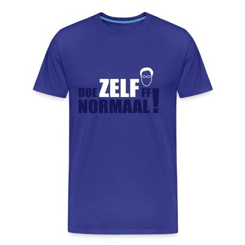 DOE ZELF FF NORMAAL! (Rutte) - Mannen Premium T-shirt