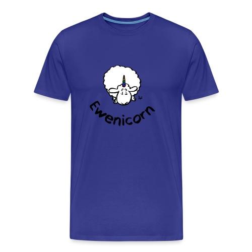 Ewenicorn - es ist ein Regenbogen-Einhornschaf! (Text) - Männer Premium T-Shirt