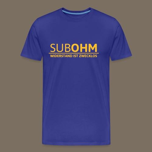 SubOhm Widerstand... - Männer Premium T-Shirt