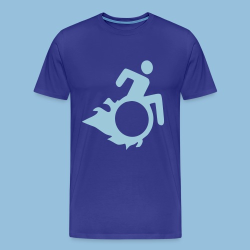 Roller met vlammen 004 - Mannen Premium T-shirt