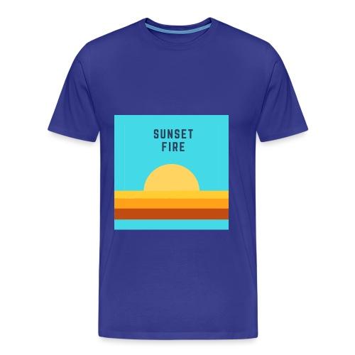 Sunset fire - T-shirt Premium Homme
