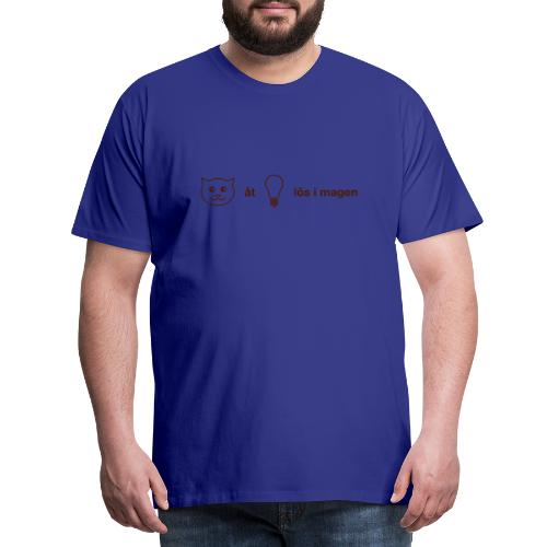 Katt åt lampa - Premium-T-shirt herr